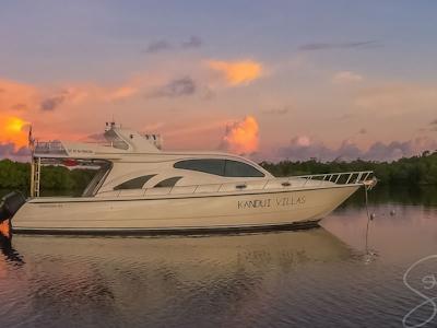 One of Kandui Villas speedboats