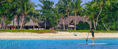 The lagoon between the surf and Kandui Villas