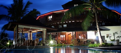 Dusk at the resort
