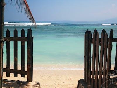 Front gate Krui surf camp
