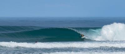Mandiri beach 15 mins away
