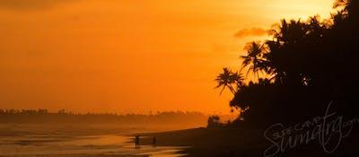 A majestic Sumatran sunset