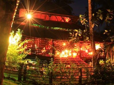 Telo surfing village by night