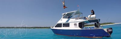 The Mahi Mahi guests have access to this private speedboat