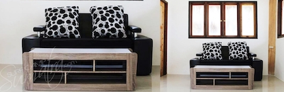 Sofa bed for triple share guests