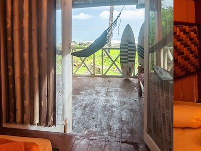 Private room in the main house leading to the deck