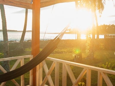 Sunset views from the deck