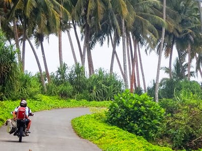 The coast road on Simeulue