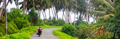 The coast road on Simeulue