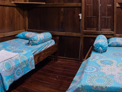 Wooden house standard twin share bedroom