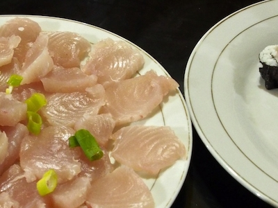 Fresh sashimi at Puri Asu