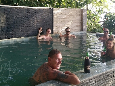 Private pool at Damai Bungalows