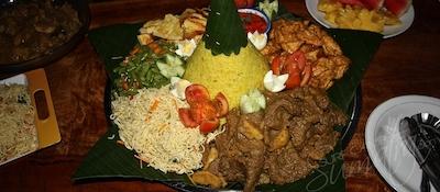 Dinner at Damai Bungalows