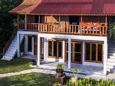 Java villa upper floor and Bali villa lower floor