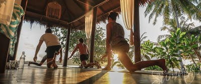 Daily yoga classes at the resort