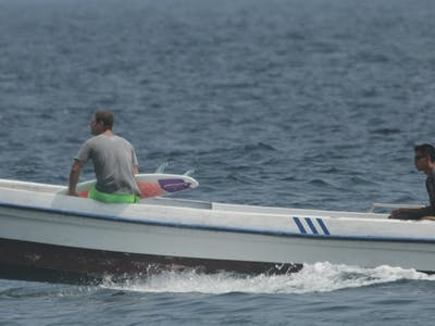 The speedboat used for standard packages