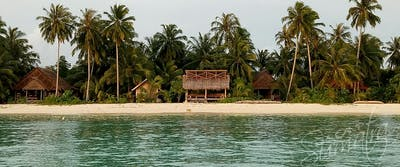 Bilou Beach Villas from the lagoon