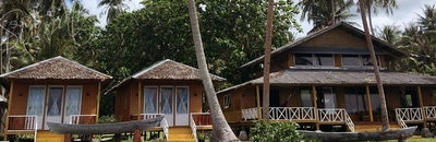 Main building and 2 twin share bungalows