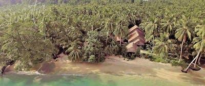 High above Beng Bengs surf camp