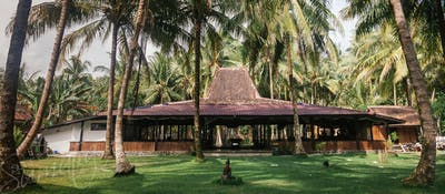 The impressive hub of the resort