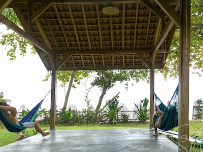 Hammock and yoga gazebo