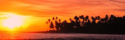 Majestic sunset from Salt