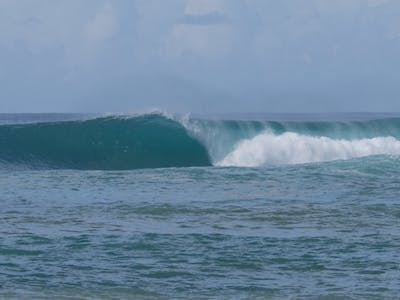 One of the many no named surf spots on Simeulue