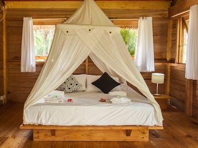 Double bed jungle villa