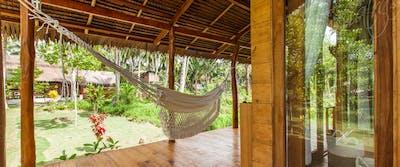 Private veranda and hammock