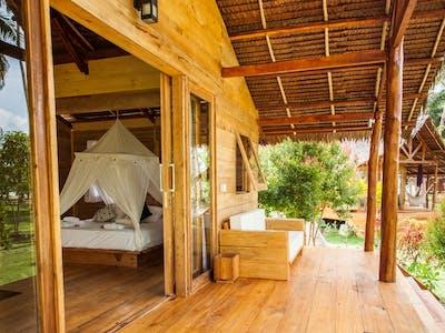 Private veranda and garden view