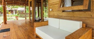 Jungle villa private veranda