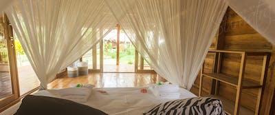 Jungle villa and view