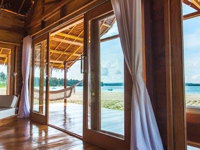Private veranda hammock and ocean view