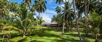 The impressive gardens at Awera Resort