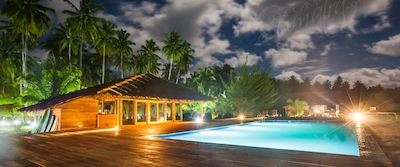 Night time at Awera Resort