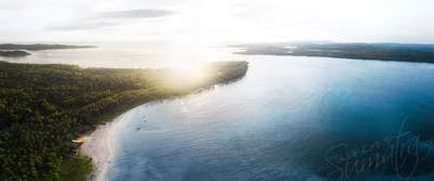 High above Awera island