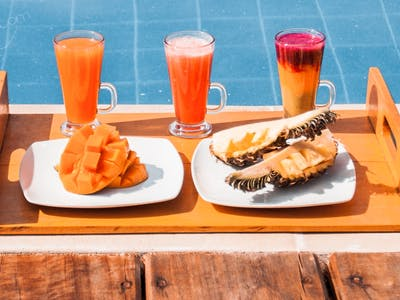 Poolside snacks served daily