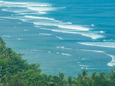 High above the Krui coastline