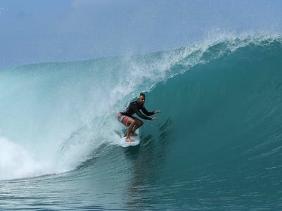 One of Sumatra's most consistent waves