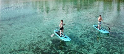 SUP exploring in the lagoon