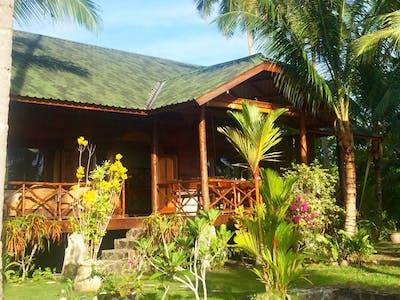 Villa mentawai and front garden