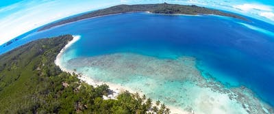 Views towards Siburu island
