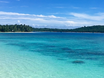 Lagoon views out the front of villa mentawai