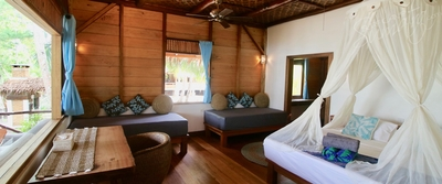 Downstairs room Villa Mentawai