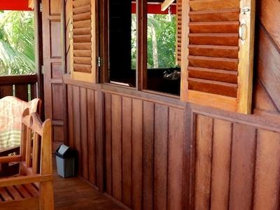 Private balcony main lodge