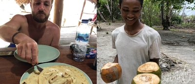 Snack time at Umata Village