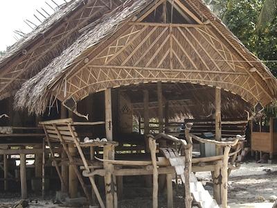 Traditional Uma longhouse