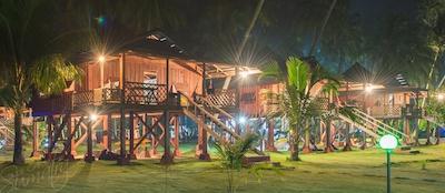 Standard villas at night