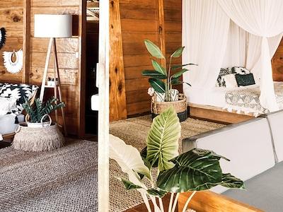 Family Villa with minimalist ethnic style