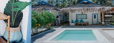 Private dip pool for each villa